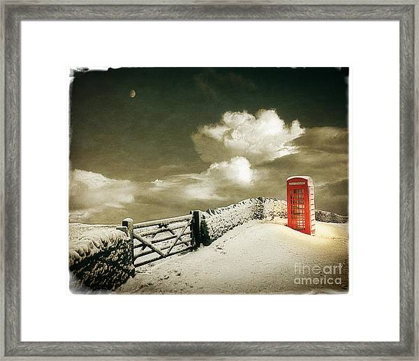 Cold Call Framed Print