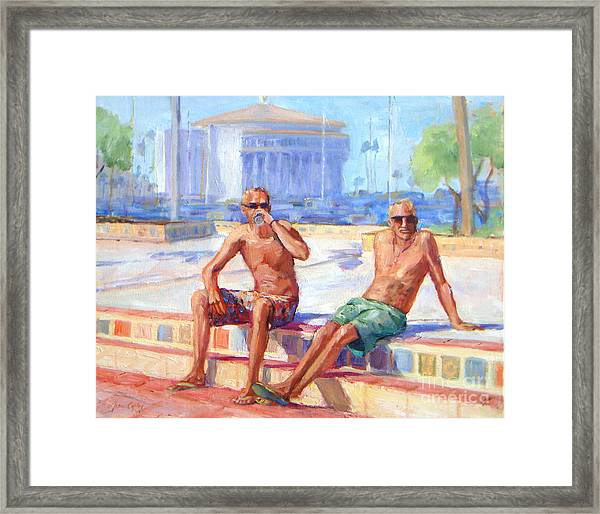 Cold Drink On A Hot Day Framed Print
