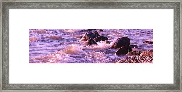 Cold Lake Rolls Framed Print