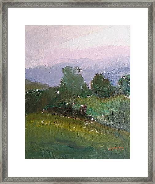 Cold March Morning Framed Print