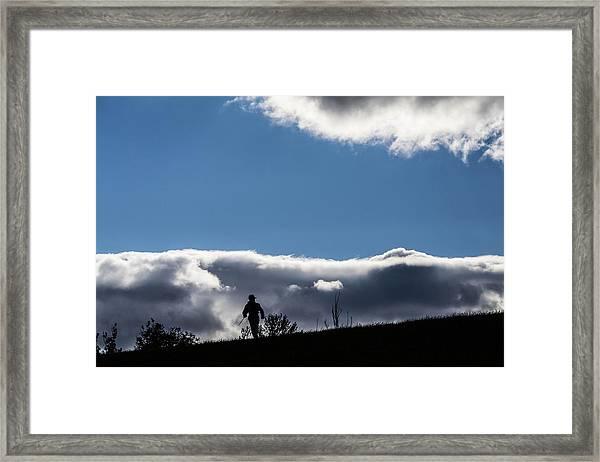 Cold Morning Hike Framed Print