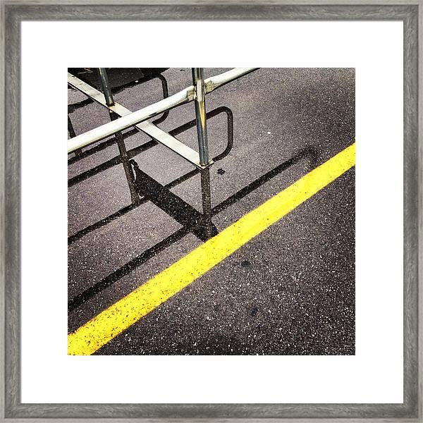 Cold Morning Shopping Framed Print