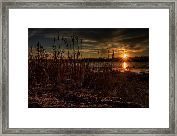 Cold Winter Sunset Framed Print