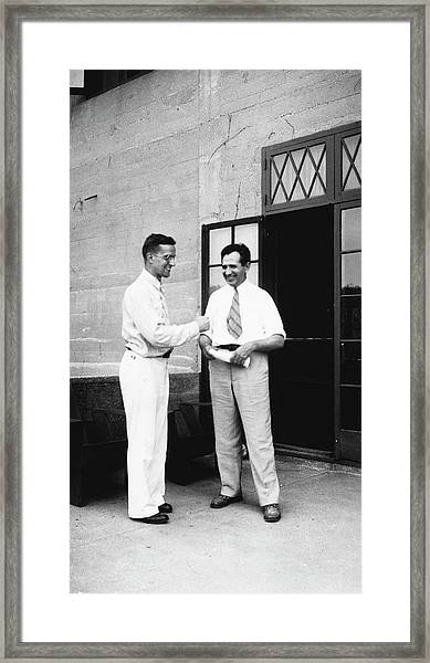 Cole And Claude Framed Print by American Philosophical Society