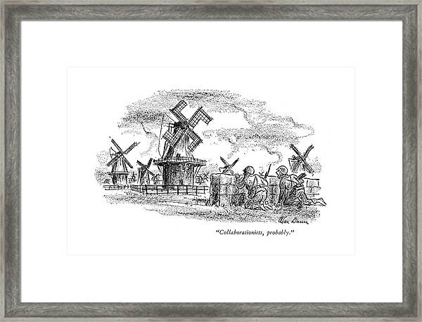 Collaborationists Framed Print