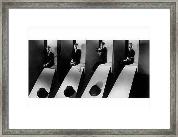Collage Of Charlie Chaplin Framed Print