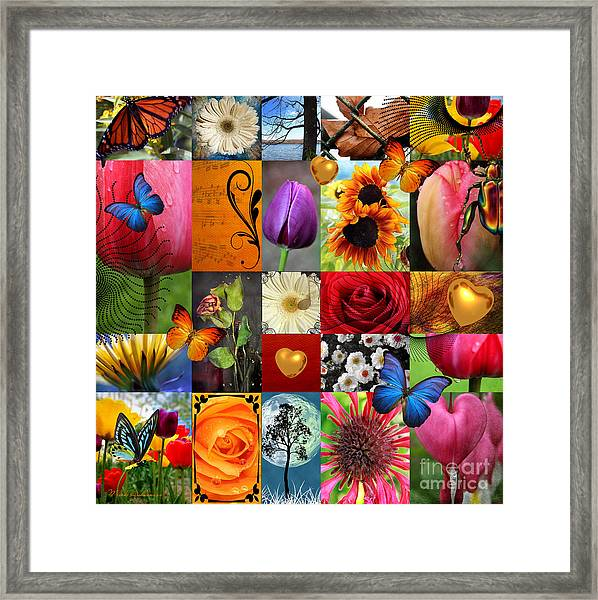 Collage Of Happiness  Framed Print