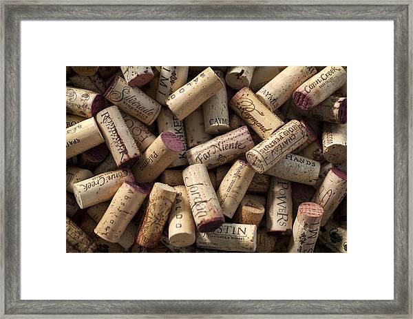 Collection Of Fine Wine Corks Framed Print