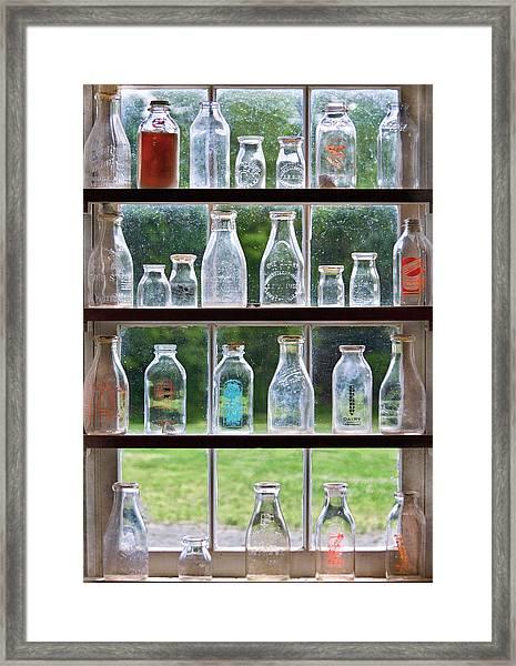 Collector - Bottles - Milk Bottles  Framed Print