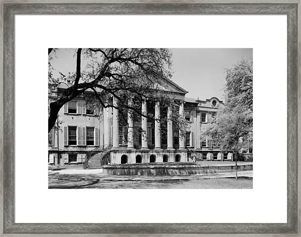 College Of Charleston Main Building 1940 Framed Print