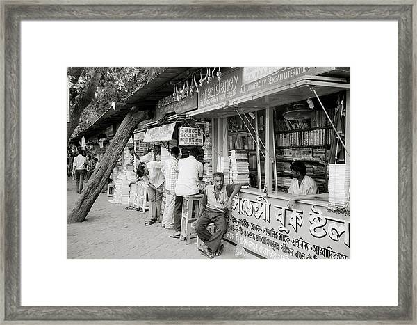 College Street Calcutta  Framed Print