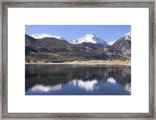 Collegiate Peaks Reflected Framed Print