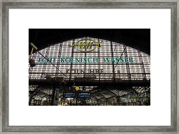 Cologne - Central Station - 4711 Framed Print