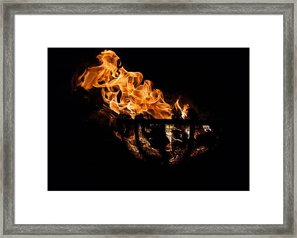 Fire Cresset Two Framed Print