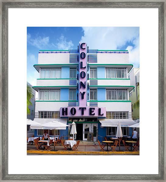 Colony Hotel Daytime Framed Print