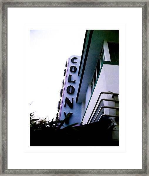 Colony Polaroid Framed Print