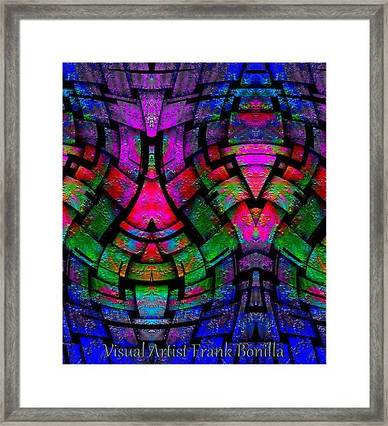 Framed Print featuring the digital art Color By Jesus by Visual Artist Frank Bonilla