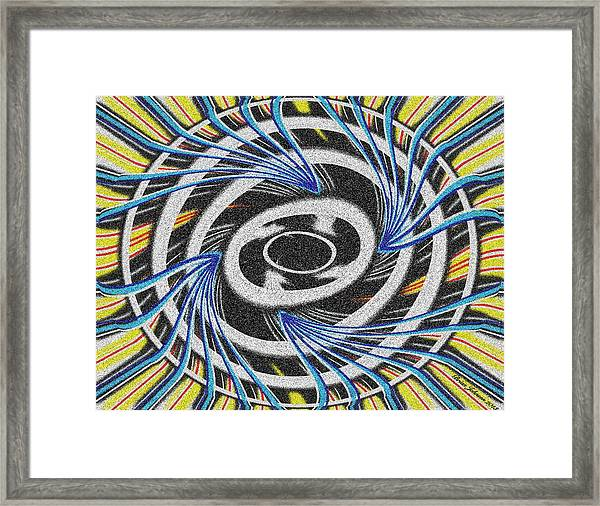 Color Explosion Tile Framed Print