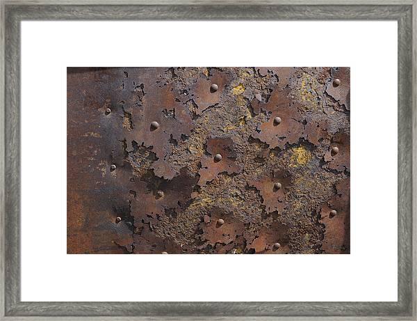 Color Of Steel 2 Framed Print