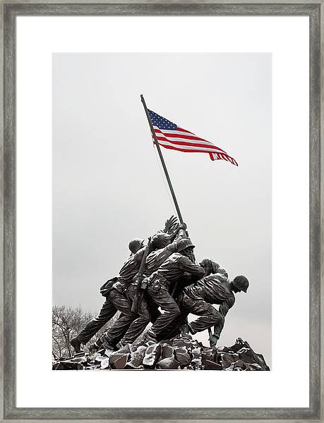 Color On A Grey Day Framed Print by JC Findley