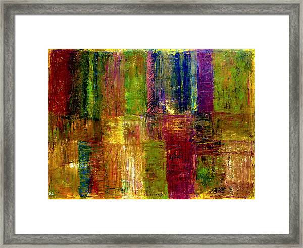 Color Panel Abstract Framed Print