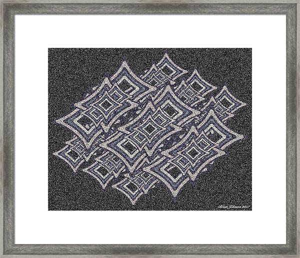 Color Star Tile Framed Print