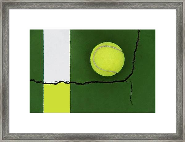 Color Transfer Across The Fault Line Framed Print