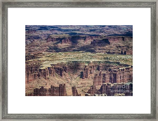 Color Variety At Canyon Lands Framed Print