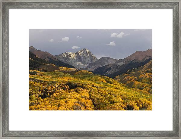 Colorado 14er Capitol Peak Framed Print
