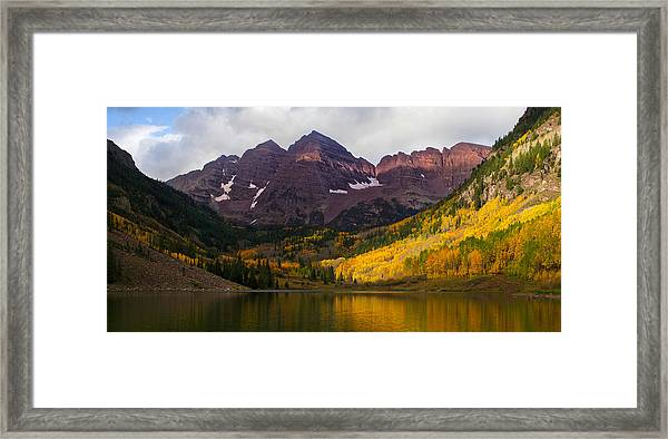 Colorado 14ers The Maroon Bells Framed Print