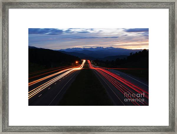 Framed Print featuring the photograph Colorado Drive by Kate Avery
