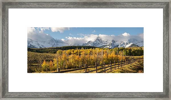 Colorado Gold Panorama Framed Print