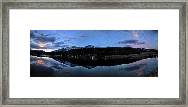 Colorado Moon To Milk Framed Print by Mike Berenson / Colorado Captures