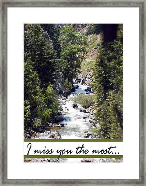 Colorado On My Mind Framed Print