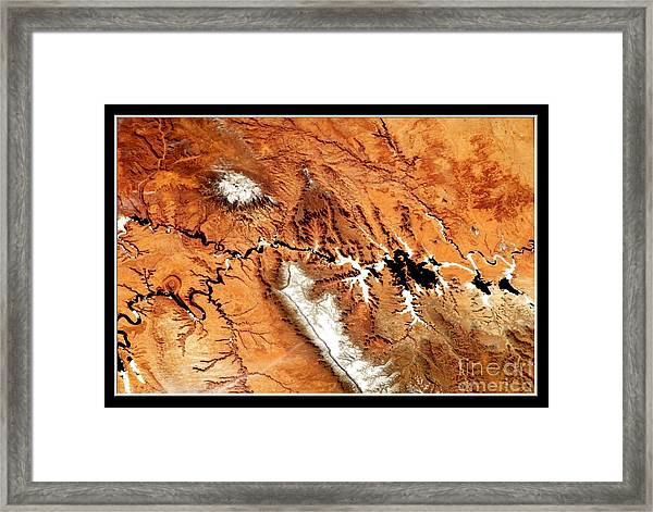 Colorado Plateau Nasa Framed Print