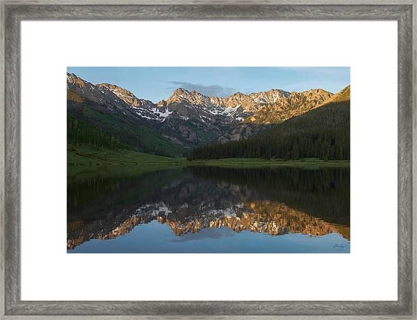 Colorado Sunset - Piney Lake Framed Print