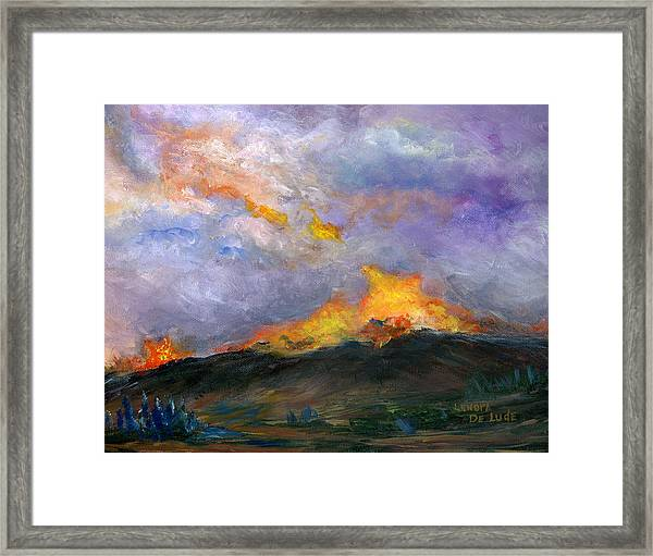Colorado Wild Fire Framed Print