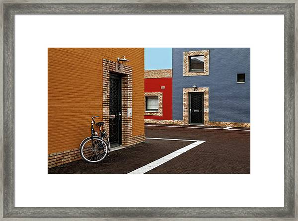 Colored Facades Framed Print
