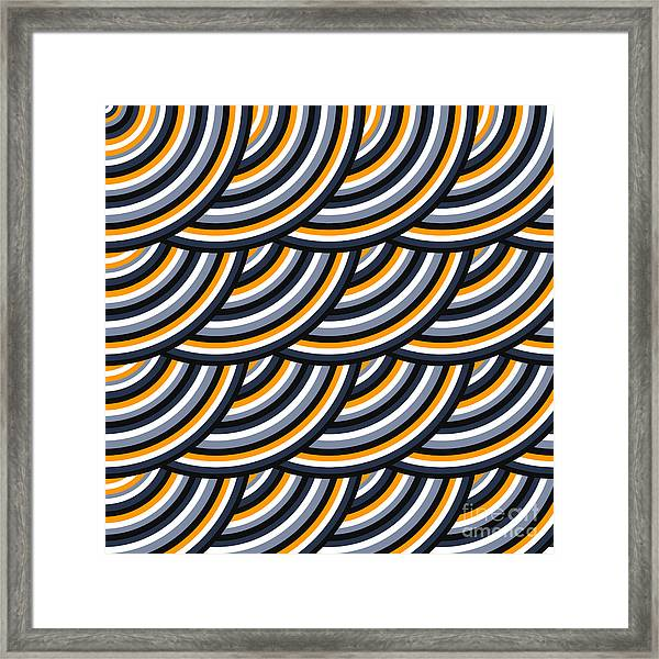 Colored Geometric Background Wallpaper Framed Print