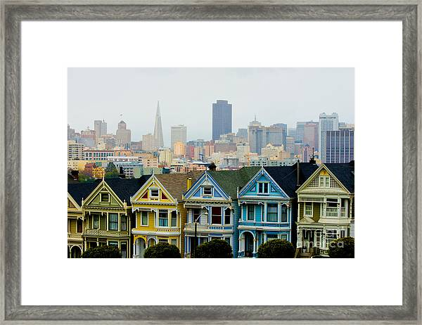Colored Ladies Framed Print