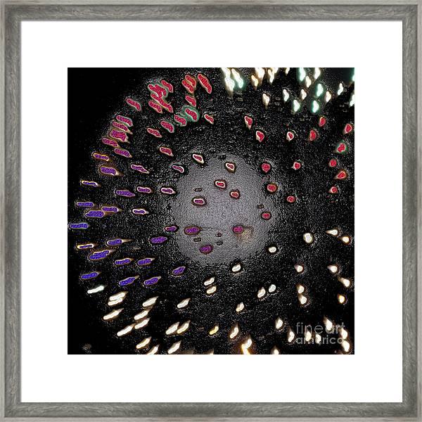 Colored Lights Framed Print