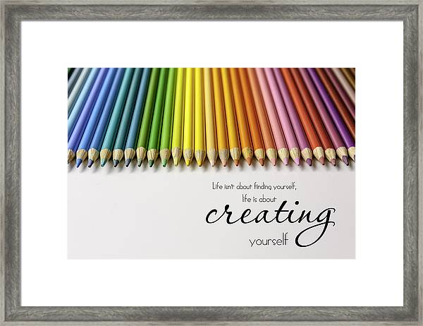 Colored Pencil Rainbow Framed Print