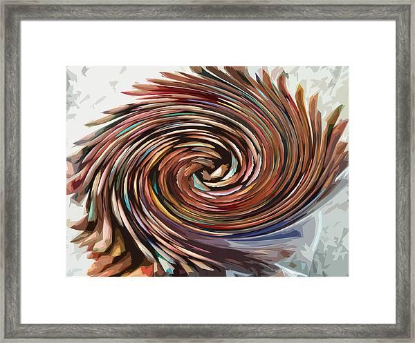 Colored Pencil Rose Framed Print