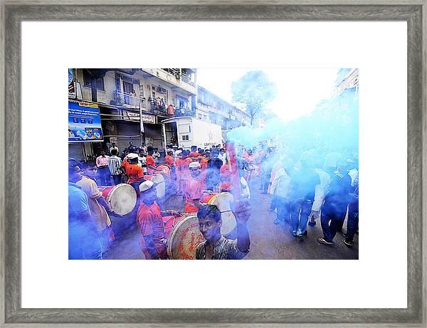 Colored Smoke Framed Print