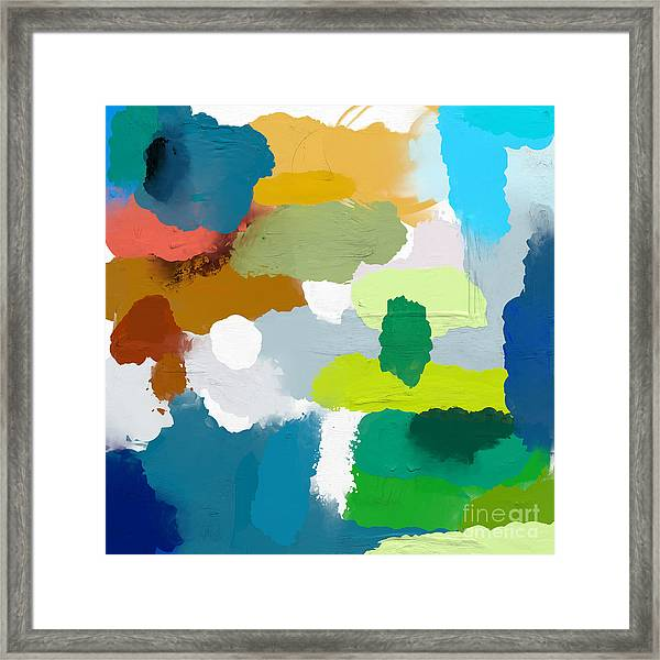 Colored Spots, Which Are Arranged On A Framed Print