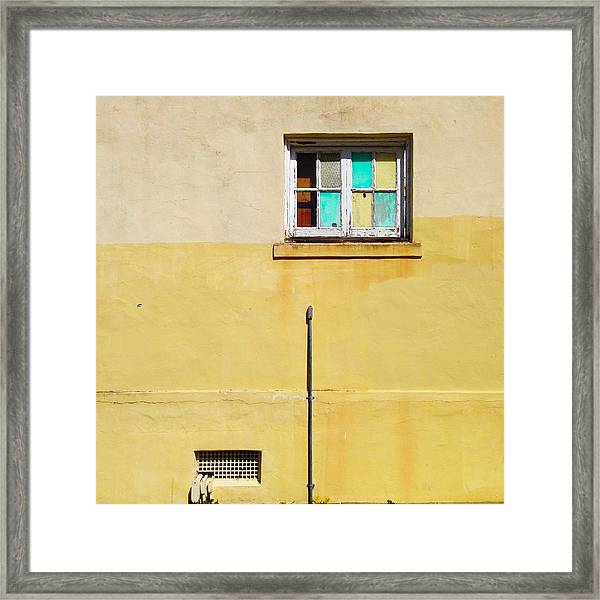 Colored Window Framed Print