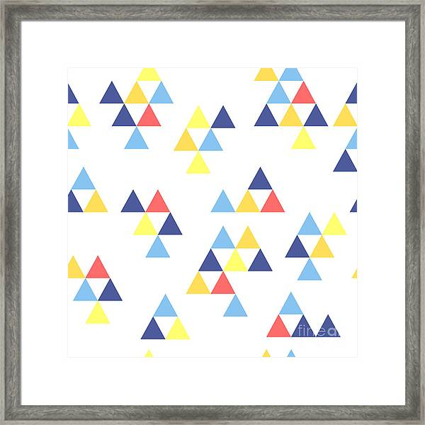 Colorful Background. Background With Framed Print