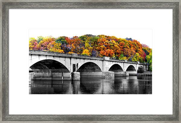 Colorful Bridge Framed Print