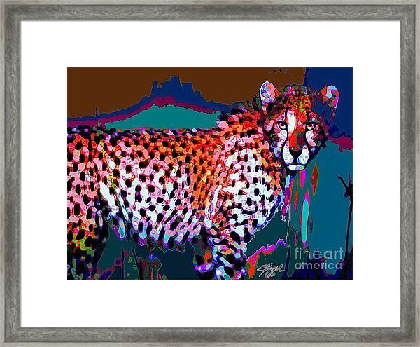 Colorful Cheetah Framed Print