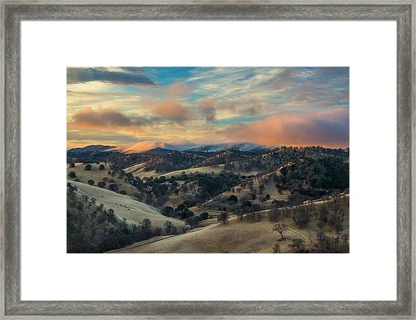 Colorful Clouds At Sunrise Framed Print